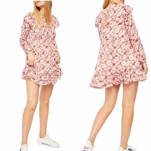 Free People These Dreams Mini Dress XS red